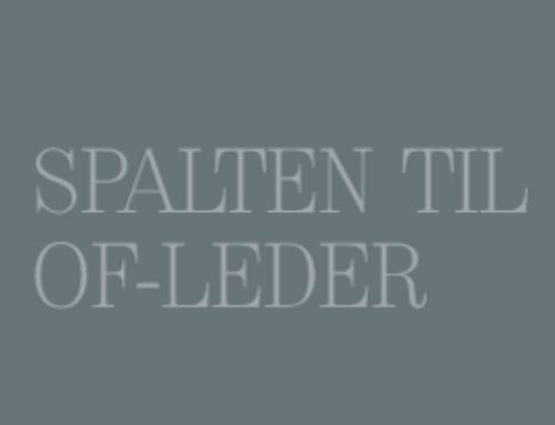 Spalten til Of-leder: Sammen er vi best